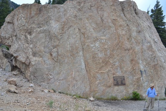 Earthquake Lake: Memorial atop the Quake Lake slide area