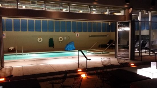 Aloft Chicago O'Hare: Nice indoor pool that opens up to the outside
