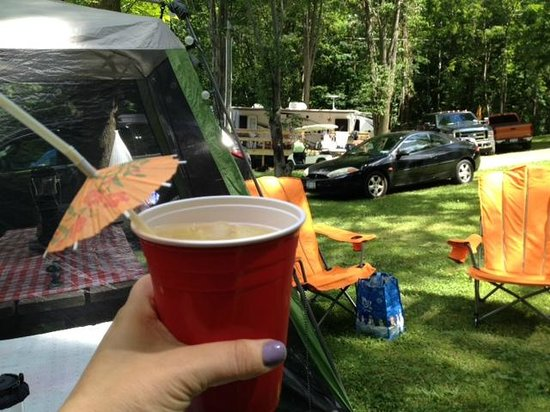 Conesus Lake Campgrounds: View on the other side of our site