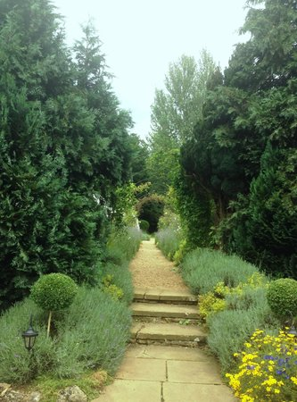 The William Cecil at Stamford: the path to the Marquee (edding venue) is very pretty