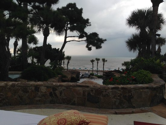 The San Luis Resort: Over looking the beach