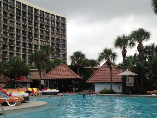 The San Luis Resort: View from the pool area