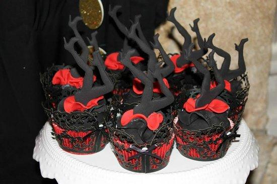 Burlesque leg cupcakes from burlesque themed birthday party
