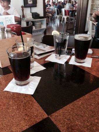 "The Stray Dog Bar & Grill: Founders draft ""Dirty B@stard"" dark beer. Really smooth and good."
