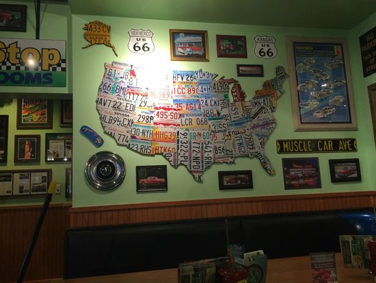Quaker Steak and Lube: License Plate Map-intrigued my girls
