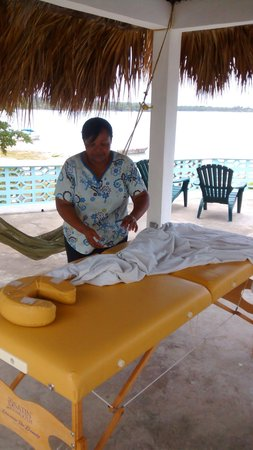 Richie's on the Beach: You can even arange for an outdoor massage from Ms. Hope!  Nothing better!