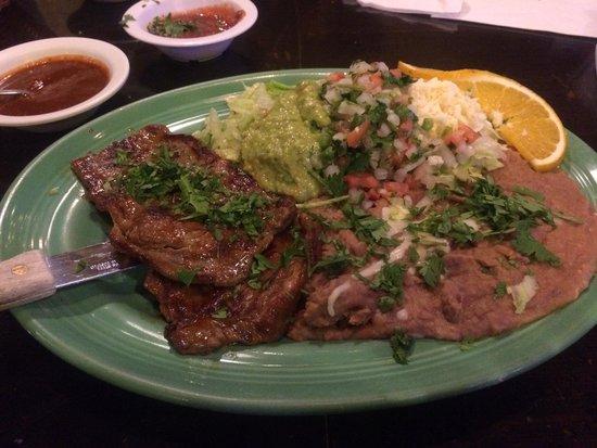 Buenavista Mexican Cantina: Carne Asada dinner