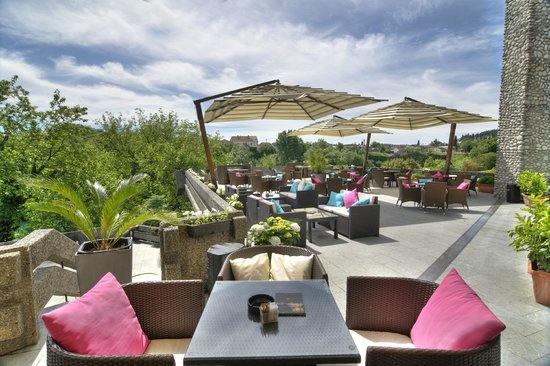 Hotel Podgorica: Terrace of the hotel
