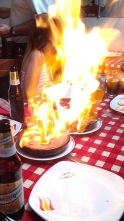 Casa Don Carlos: Flaming chorizo off the specials menu. Plz try. It's amazing !!!