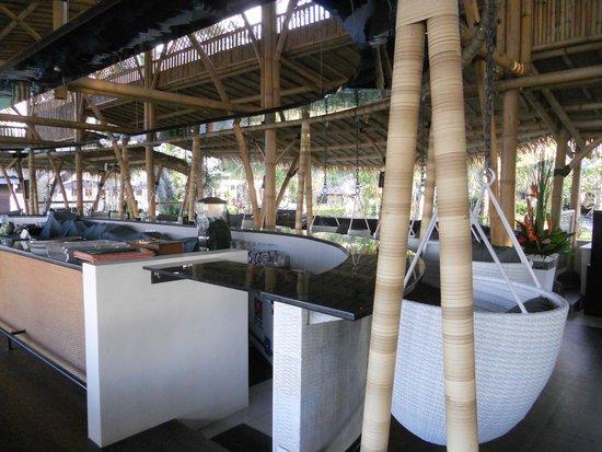 Prama Sanur Beach Bali: interno del Bamboo (di mattina, quindi chiuso!)