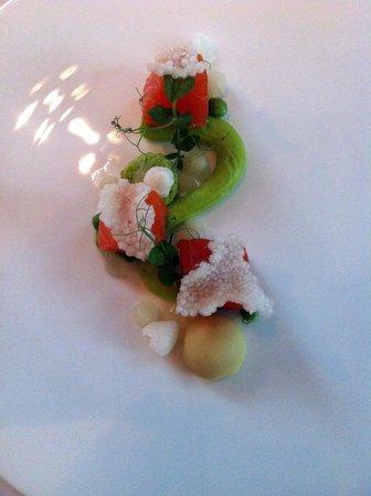 Palmgarden Restaurant: Forelle mit Erbsen