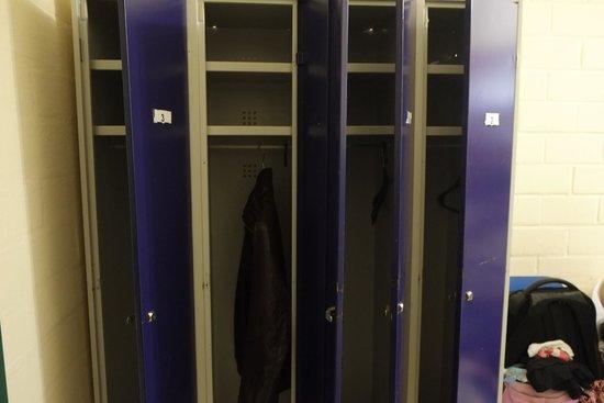 Haus International: lockers inside the room