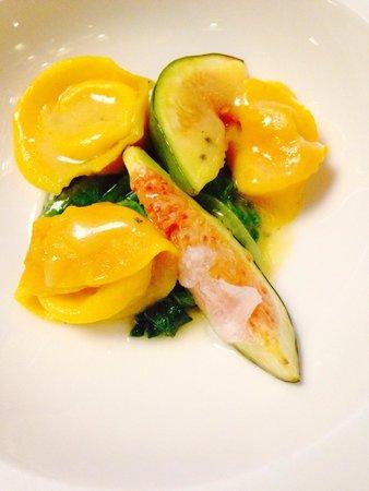 Restaurant La Passagère : Ravioles mozzarella et figue au lard