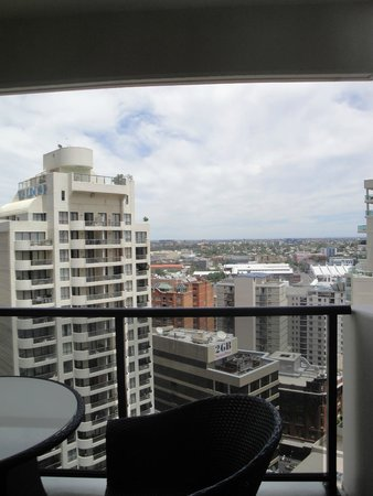 Meriton Serviced Apartments Kent Street: View from the balcony