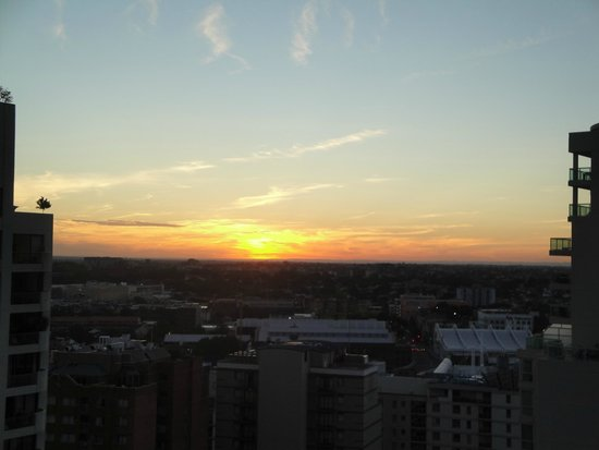 Meriton Serviced Apartments Kent Street: View from the balcony, sunset (or sunrise, dont remember;))