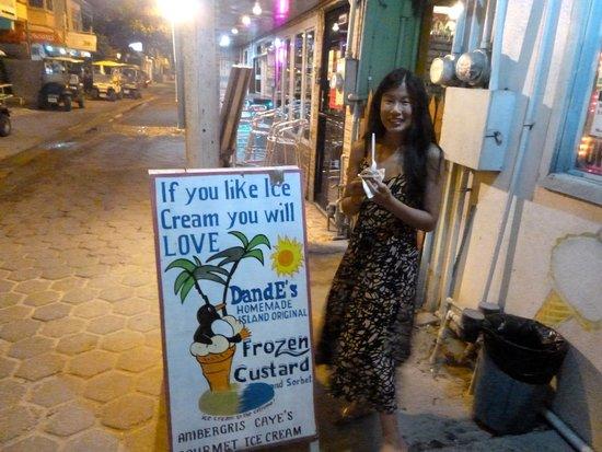 DandE's Frozen Custard & Sorbet : store front/sign!