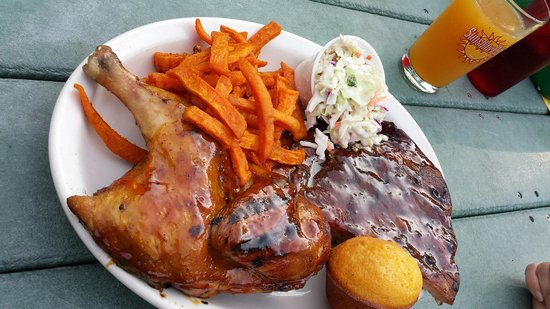 Holy Smoke: Chicken, ribs and sweet potato fries