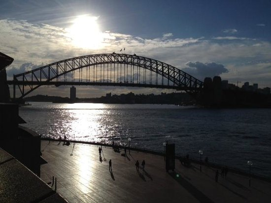Sydney Harbour Bridge from Opera House at Sunset