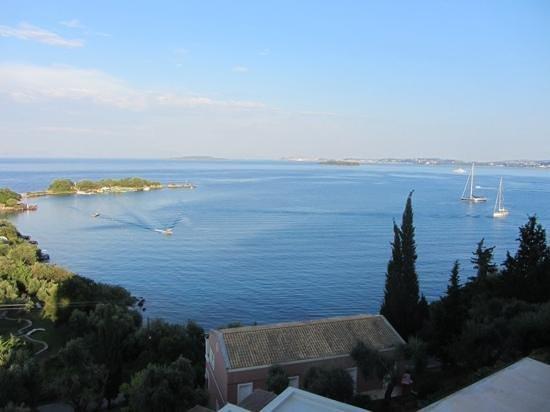 Grecotel Eva Palace: View from the hotel bar toward Corfu Town