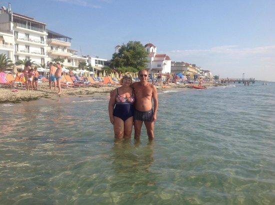 Strass Hotel: Паралия Катерини. Пляж (песчаный) и чистое море