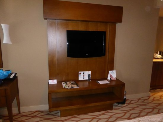 The Spa Hotel at Ribby Hall Village: Large television in bedroom.