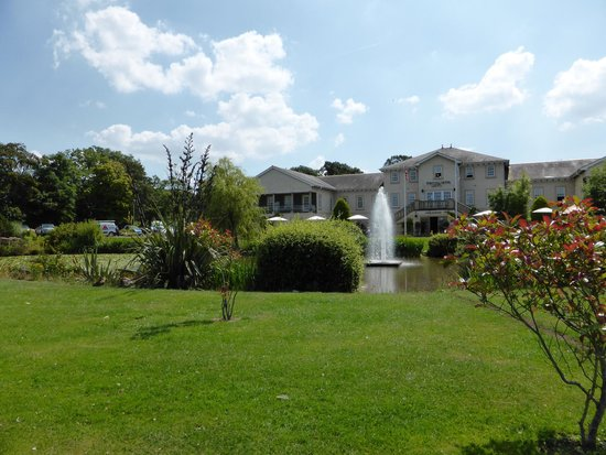 The Spa Hotel at Ribby Hall Village: The view from the other side of the lake towards the hotel.
