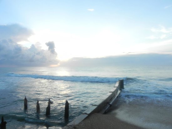 Cape Hatteras Lighthouse: Sunrise from the beach by Hatteras Lighthouse.