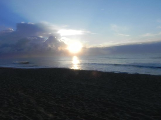 Cape Hatteras Lighthouse : Sunrise from the beach by Hatteras Lighthouse.
