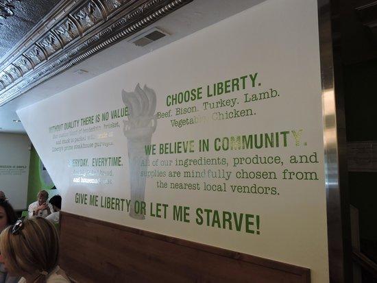 Liberty Burger: Motto