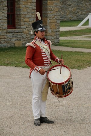 Historic Fort Snelling: Costumed soldier