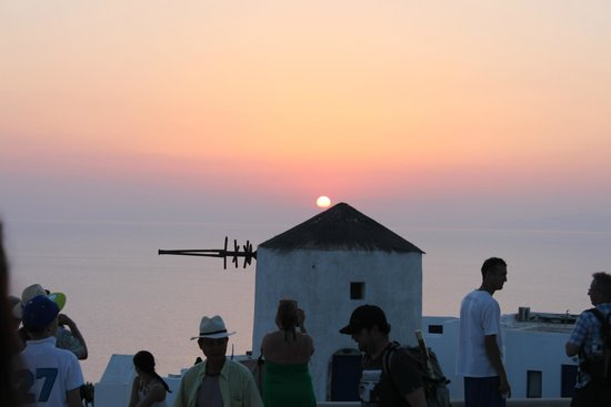 Sunset in Oia: Foule