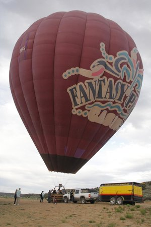 Pueblo Balloons : L'altra mongolfiera in partenza