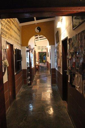 Posada Lagunita: corridoio che disimpegna le stanze