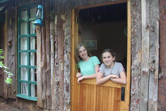 Colobus Cottages: front door to our cabin