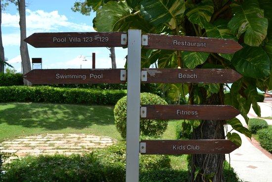 Samui Buri Beach Resort: panneau