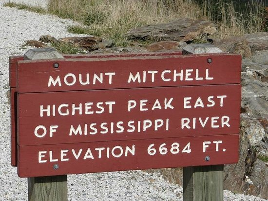 Mount Mitchell State Park: sigh at top