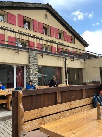 Hotel Schwarzsee Restaurant: Taken from the restaurant terrace today 25 July 2014