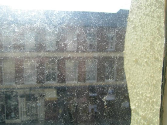 The Eaton Hotel: Dirty window