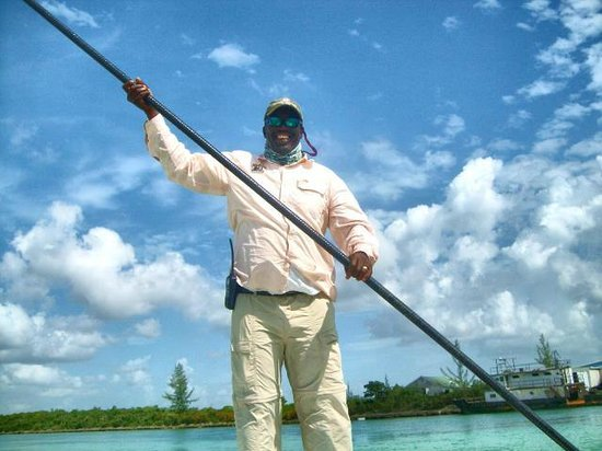 Swain's Cay Lodge: Great fishing guide, Shine