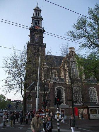 The Jordaan: Westerkerk, igreja próxima à casa de Anne Frank.
