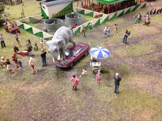 Miniatur Wunderland: Éléphant cirque.