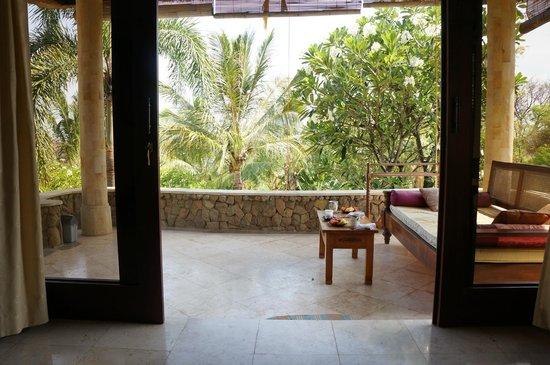 Jepun Bali Villa: terrasse devant la chambre