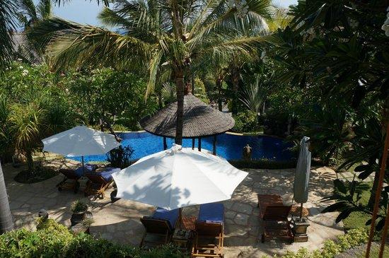 Jepun Bali Villa: Vue sur la piscine