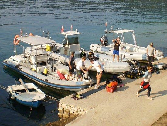 Croatia Divers Vela Luka: the 3 dive boats of the 5* dive resort