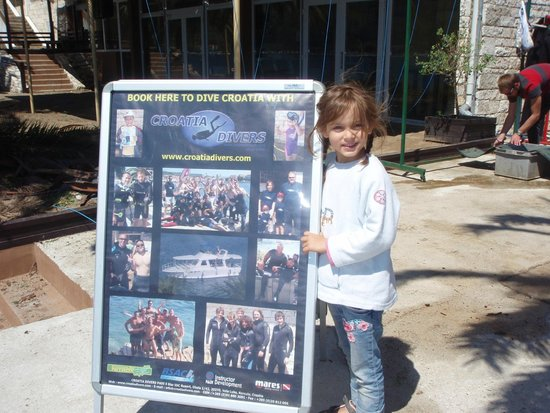 Croatia Divers Vela Luka: Angelina the youngest memer of our team