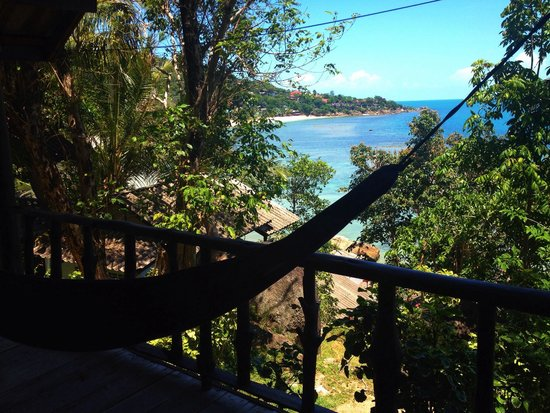 """Ling Sabai Bungalows: The view from our bungalow with """"garden view"""" :-)"""