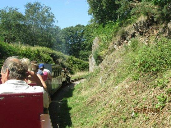 Ravenglass and Eskdale Railway: views on the way to Ravenglass