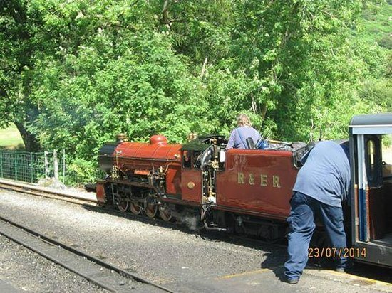 Ravenglass and Eskdale Railway: One of the engines