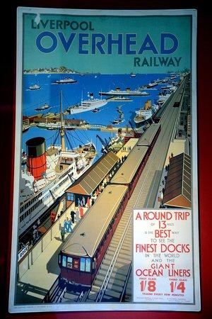 Museum of Liverpool: Liverpool overhead railway poster
