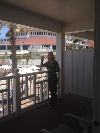 Hotel del Coronado: from room, looking towards the Victorian building